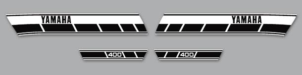 RD400C 1976 European Model Complete Decal Set