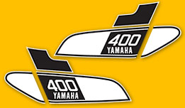 DT400 1976- Gas Tank Decal Set