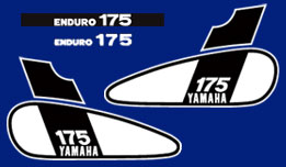 DT175B 1975 Complete Decal Set