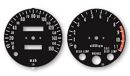 KZ1000D Z1-R 1978 Australian Model Gauge Faces Decals