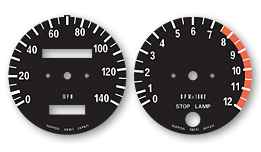 H2B 1974 Gauge Faces Decals - MPH