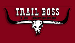 G4TRA Trail Boss 1970- Oil Tank Decal- Pearl Candy Red