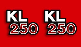 KL250 1982- Side Cover Decals