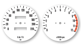 Z650 1976 Gauge Faces Decals