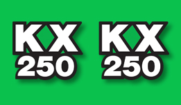 KX250 1978- Side Panel Decals