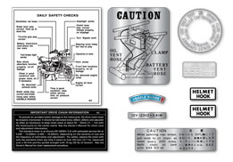H2B 1974 10 Piece Label Set