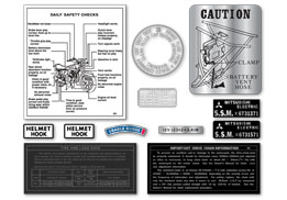 H1E 1974 12 Piece Warning & Small Decal Set
